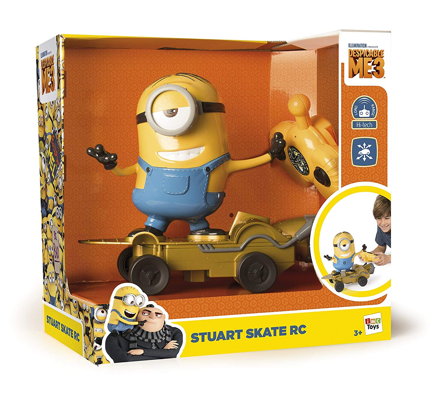 new products 12298 74b22 MINIONS - DAVE CON SKATE R/C - ACTION FIGURE E PLAYSET - Il ...