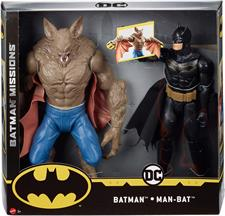 BATMAN - BATMAN VS MAN-BAT COPPIA 36 CM FVM63
