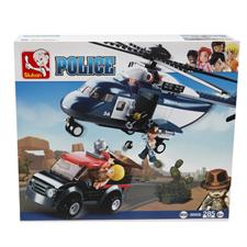 Sluban Helicopter Jeep Police 190006
