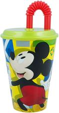 Mickey Mouse Bicchiere con Cannuccia 430ml ST44230